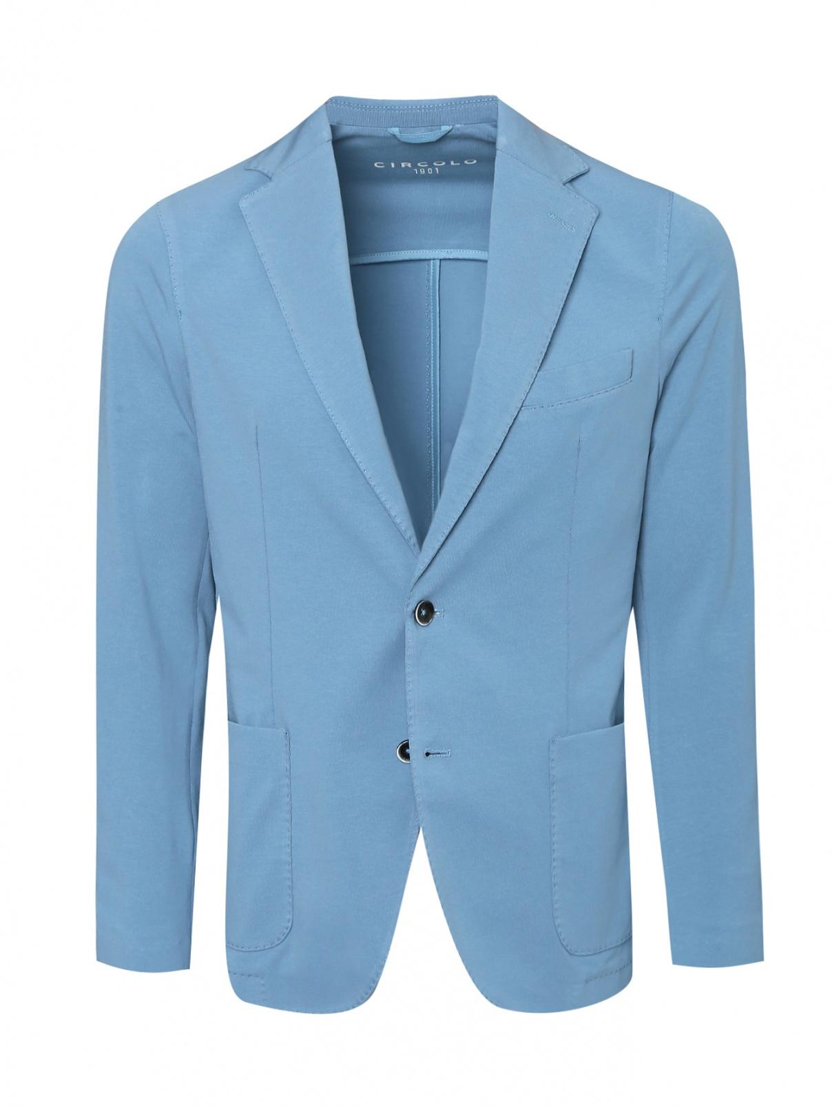 Пиджак из хлопка с накладными карманами Circolo  –  Общий вид