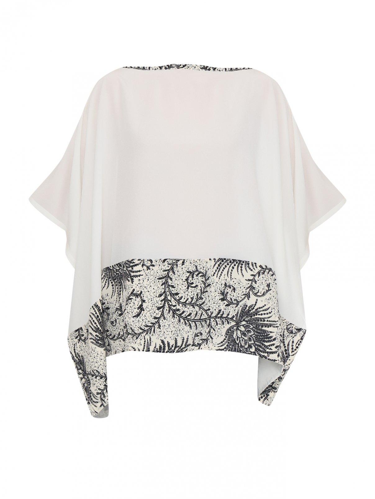 Блуза шелковая с цветочным узором Etro  –  Общий вид