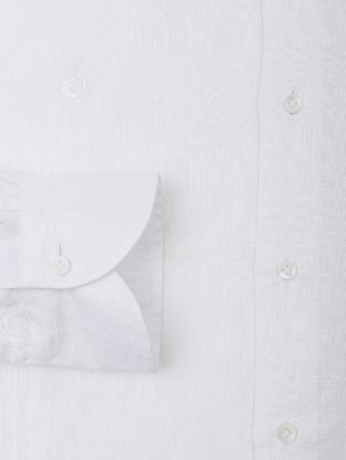 Рубашка льняная прямого силуэта  - Деталь1