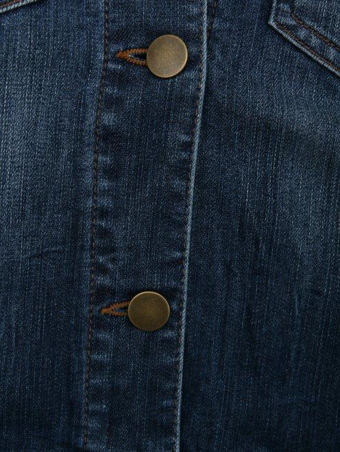 Куртка из денима с декором на спинке - Деталь