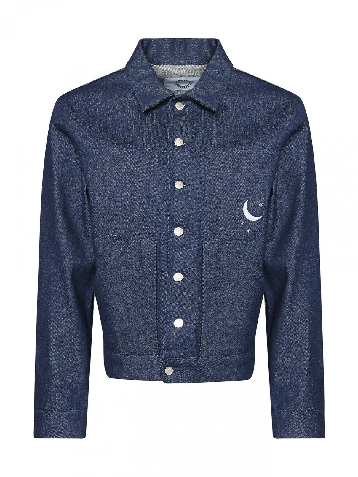 Куртка джинсовая с вышивкой Carne Bollente  –  Общий вид