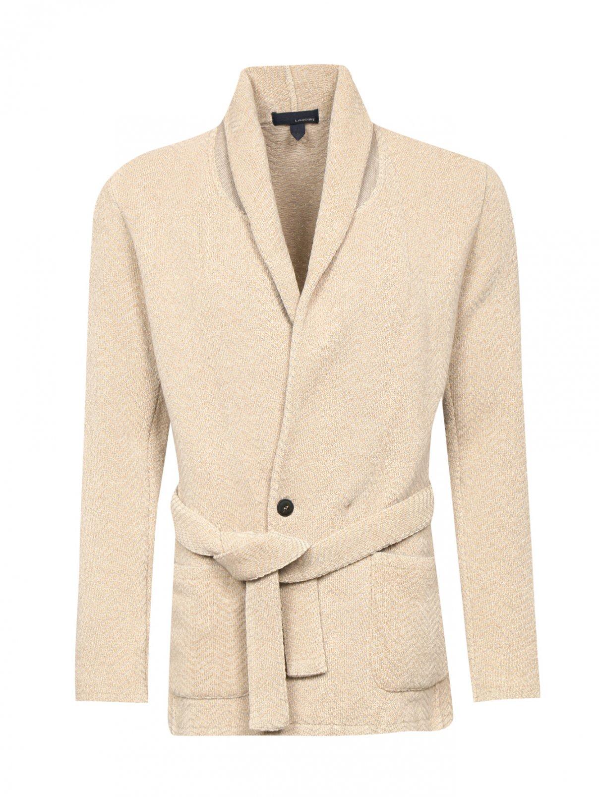 Пиджак трикотажный из шерсти и хлопка LARDINI  –  Общий вид