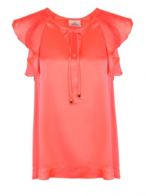 Блуза из вискозы с воланам DEHA - Общий вид
