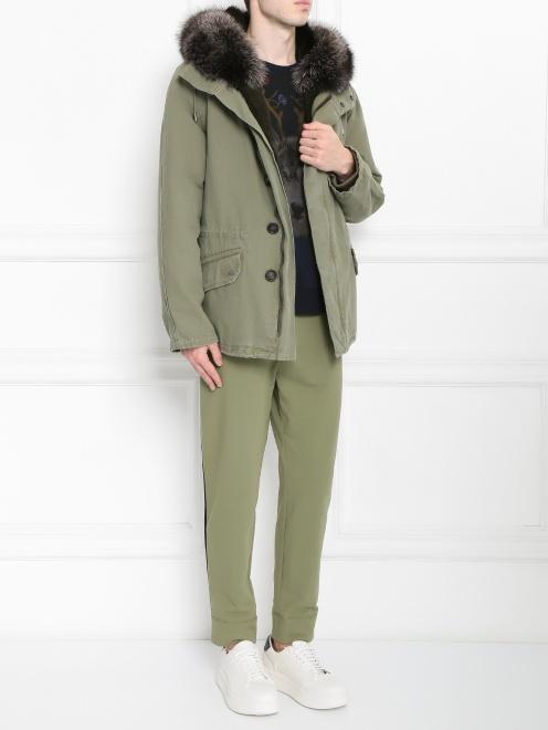 Куртка из хлопка с меховой подкладкой Yves Salomon - Общий вид