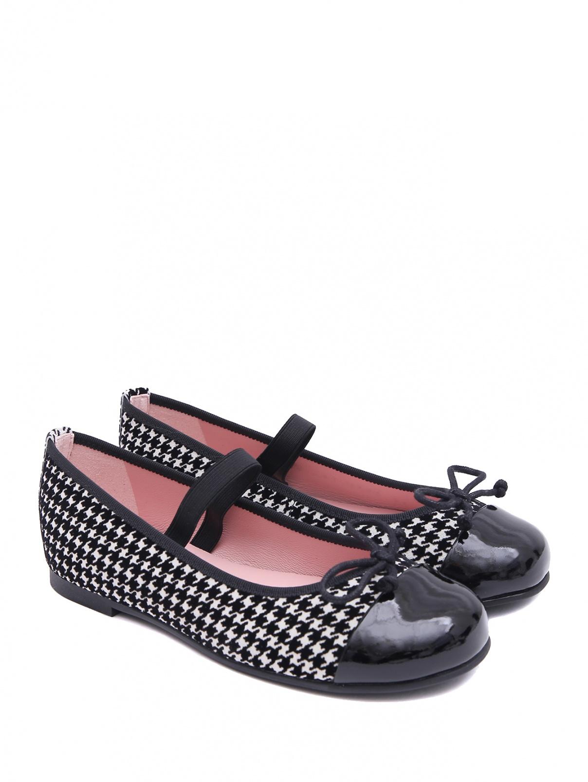 Замшевые туфли с лакированным мысом Pretty Ballerinas  –  Общий вид