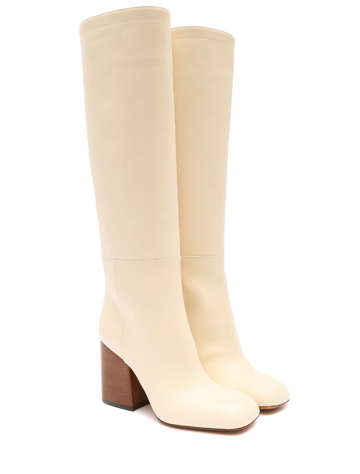 Сапоги из гладкой кожи на устойчивом каблуке Marni  –  Общий вид