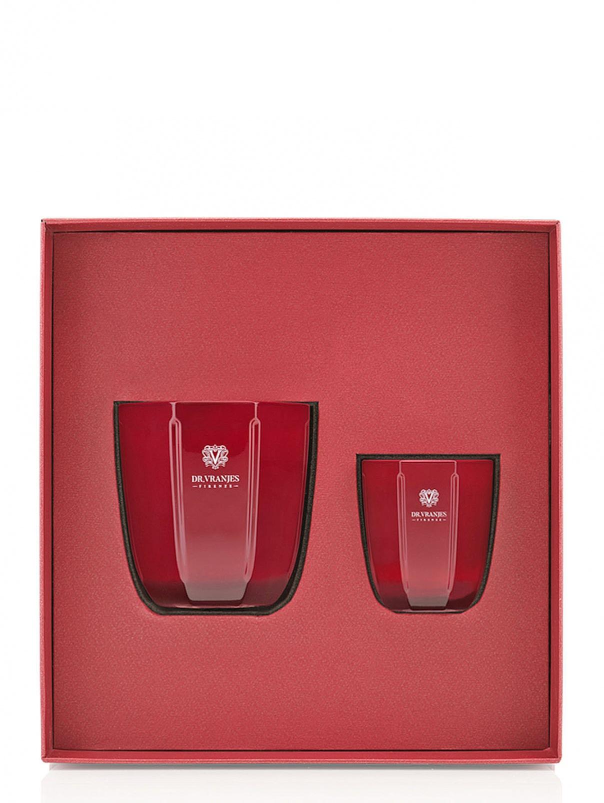Набор свеча 200 г и свеча 80 г Rosso Nobile Home Fragrance Dr. Vranjes  –  Общий вид