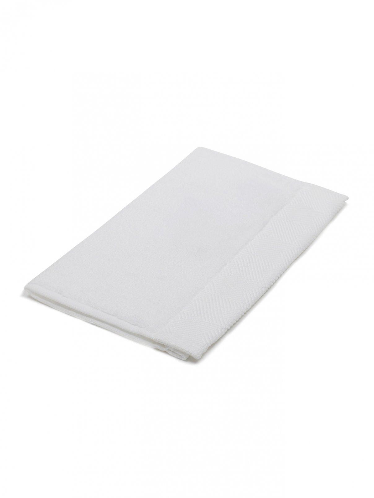 Салфетка для рук из хлопковой махровой ткани с текстурным орнаментом по канту Frette  –  Общий вид