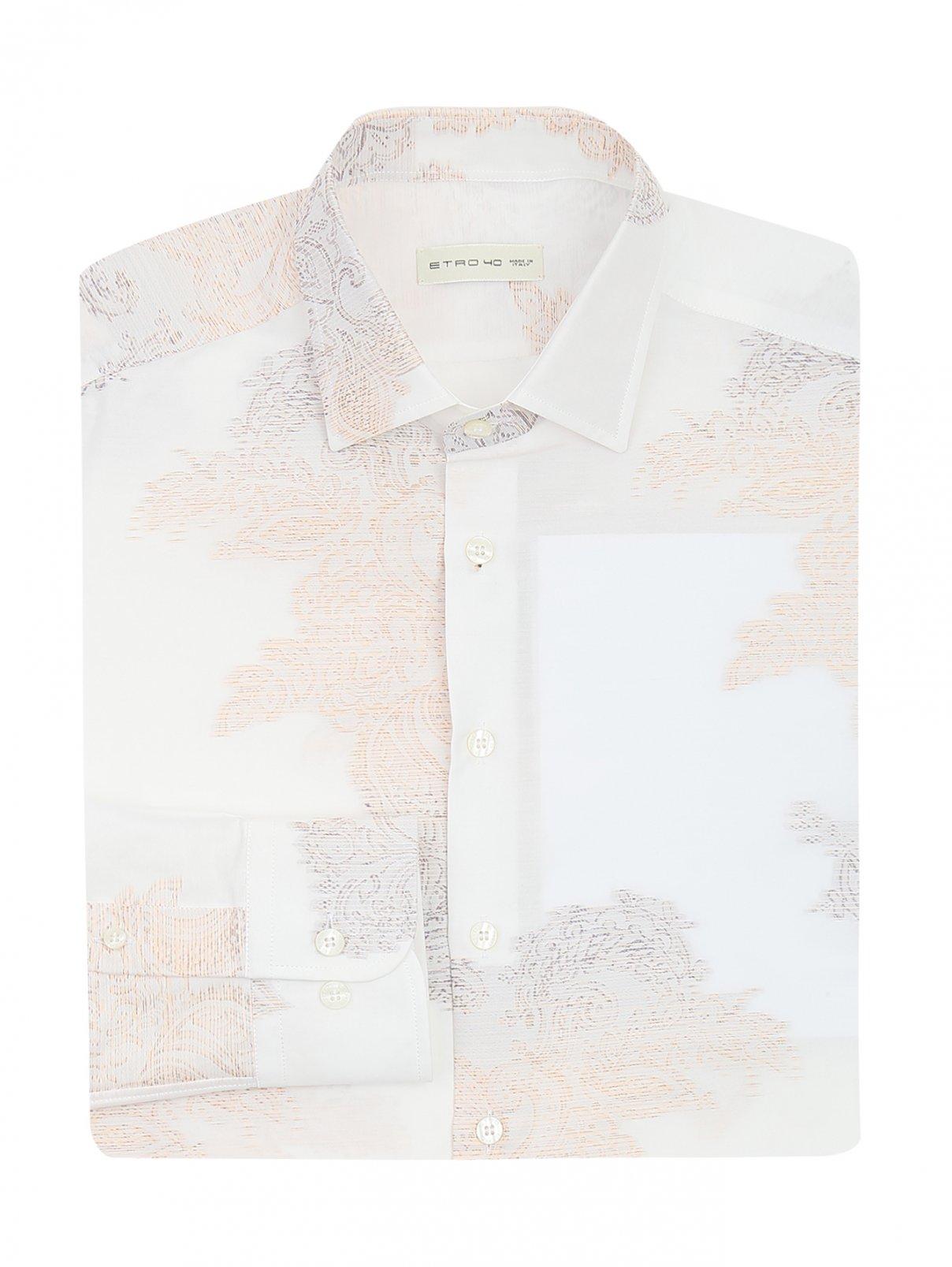 Рубашка из хлопка и шелка с узором Etro  –  Общий вид