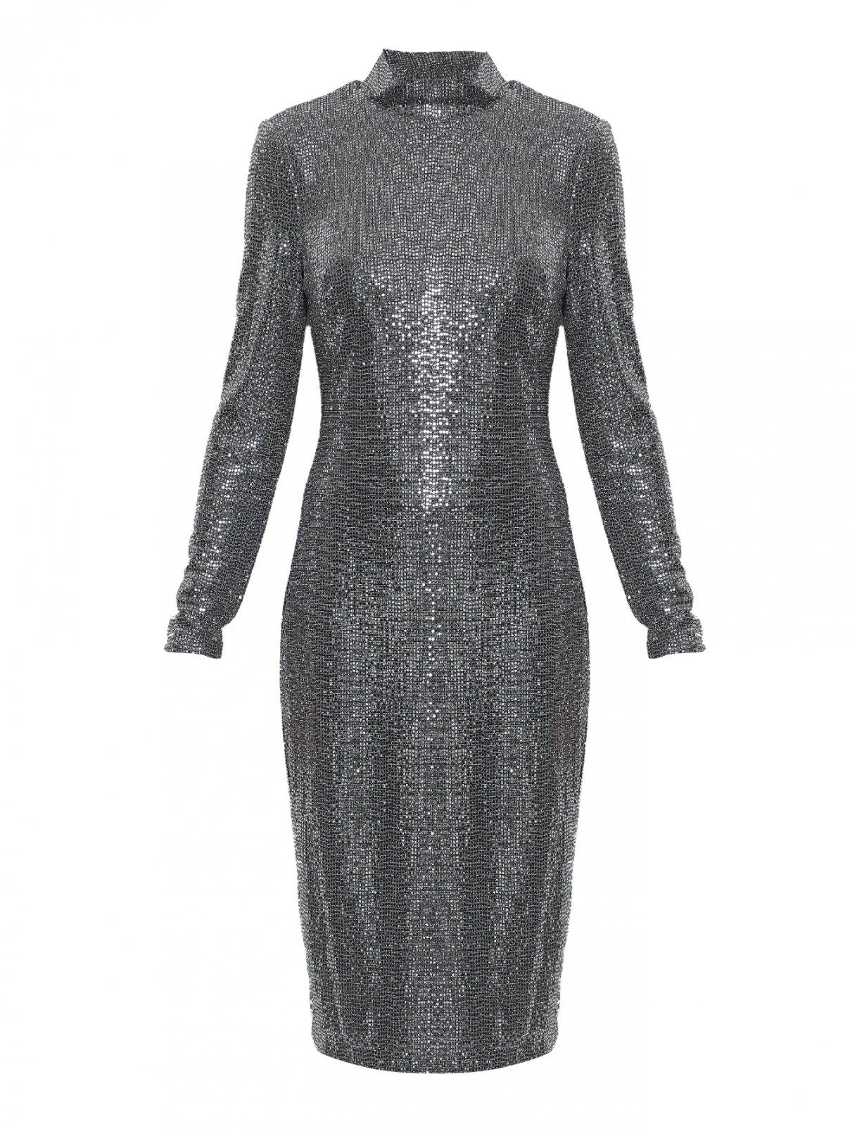платье трикотажное прямого кроя Badgley Mischka  –  Общий вид