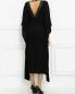Платье-макси с кожаной отделкой Barbara Bui  –  Модель Верх-Низ1