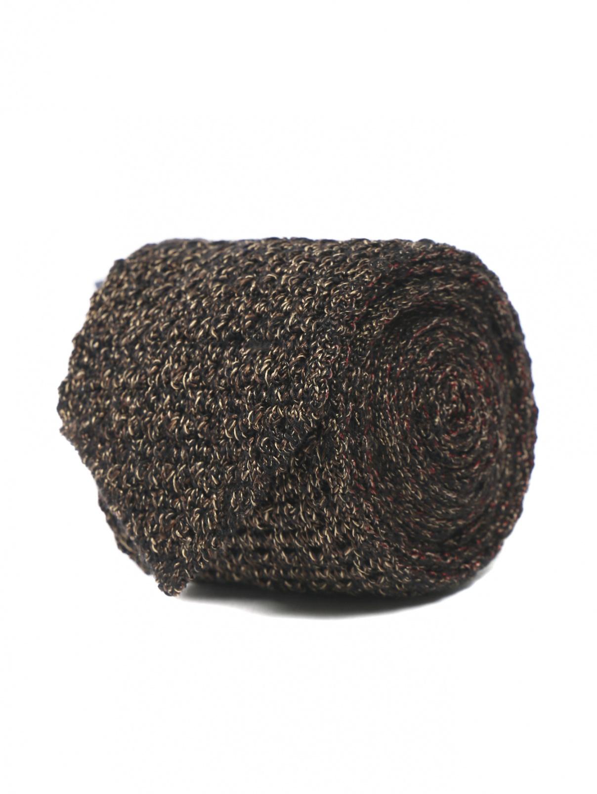 Галстук трикотажный из шерсти и шелка LARDINI  –  Общий вид