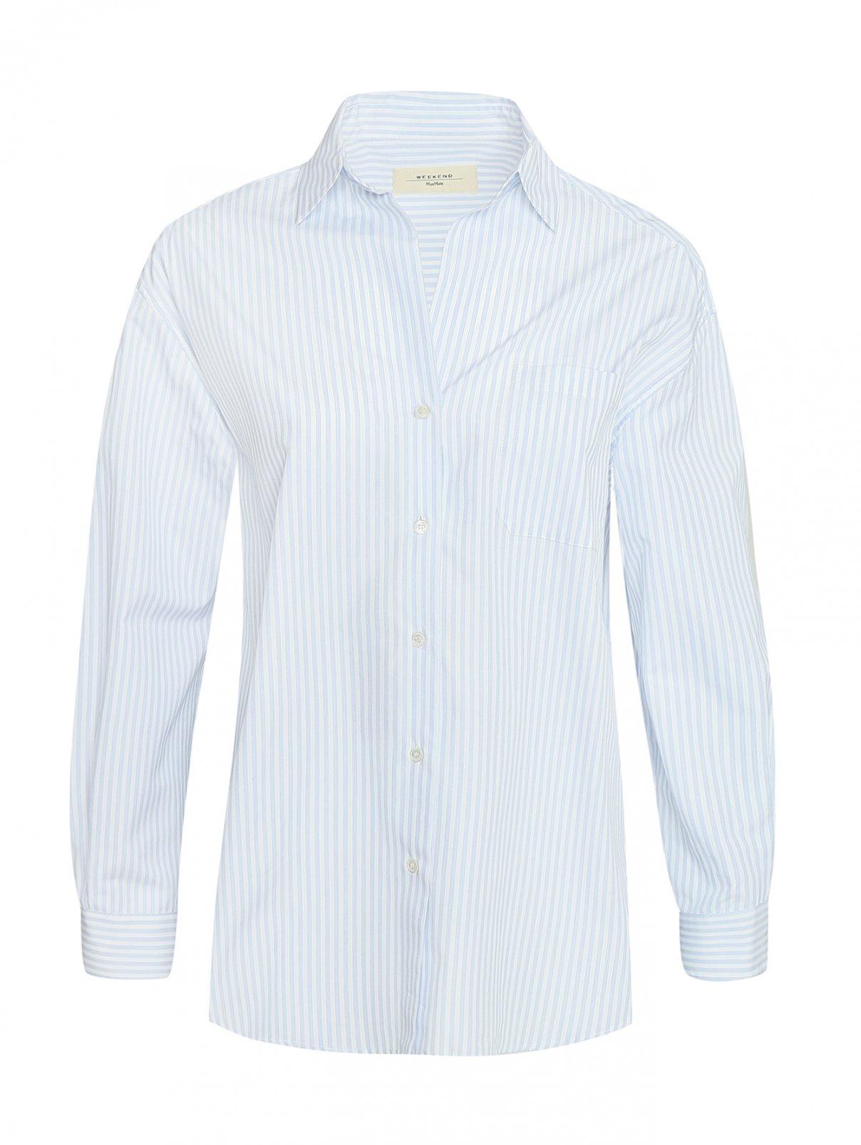 Блузка хлопковая свободного кроя Weekend Max Mara  –  Общий вид