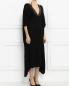 Платье-макси с кожаной отделкой Barbara Bui  –  Модель Верх-Низ