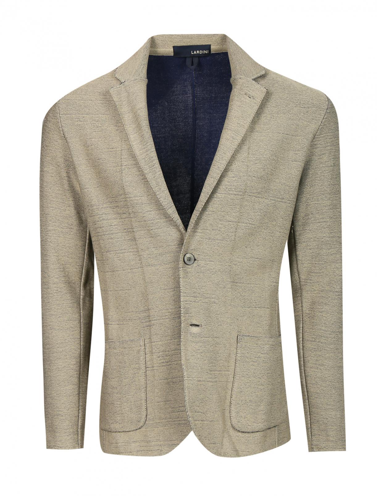 Пиджак трикотажный из хлопка LARDINI  –  Общий вид