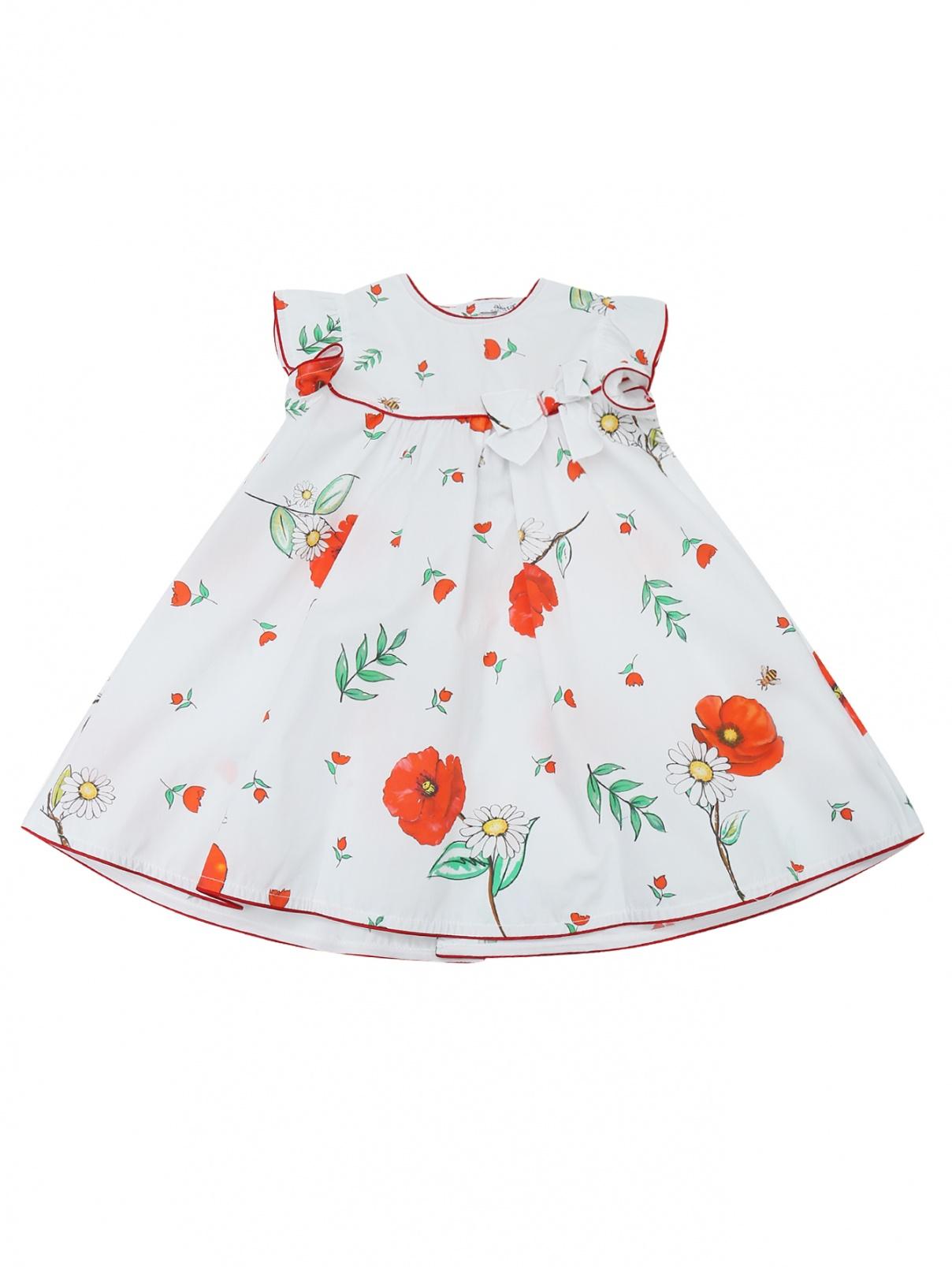 Платье хлопковое с цветочным узором Aletta  –  Общий вид