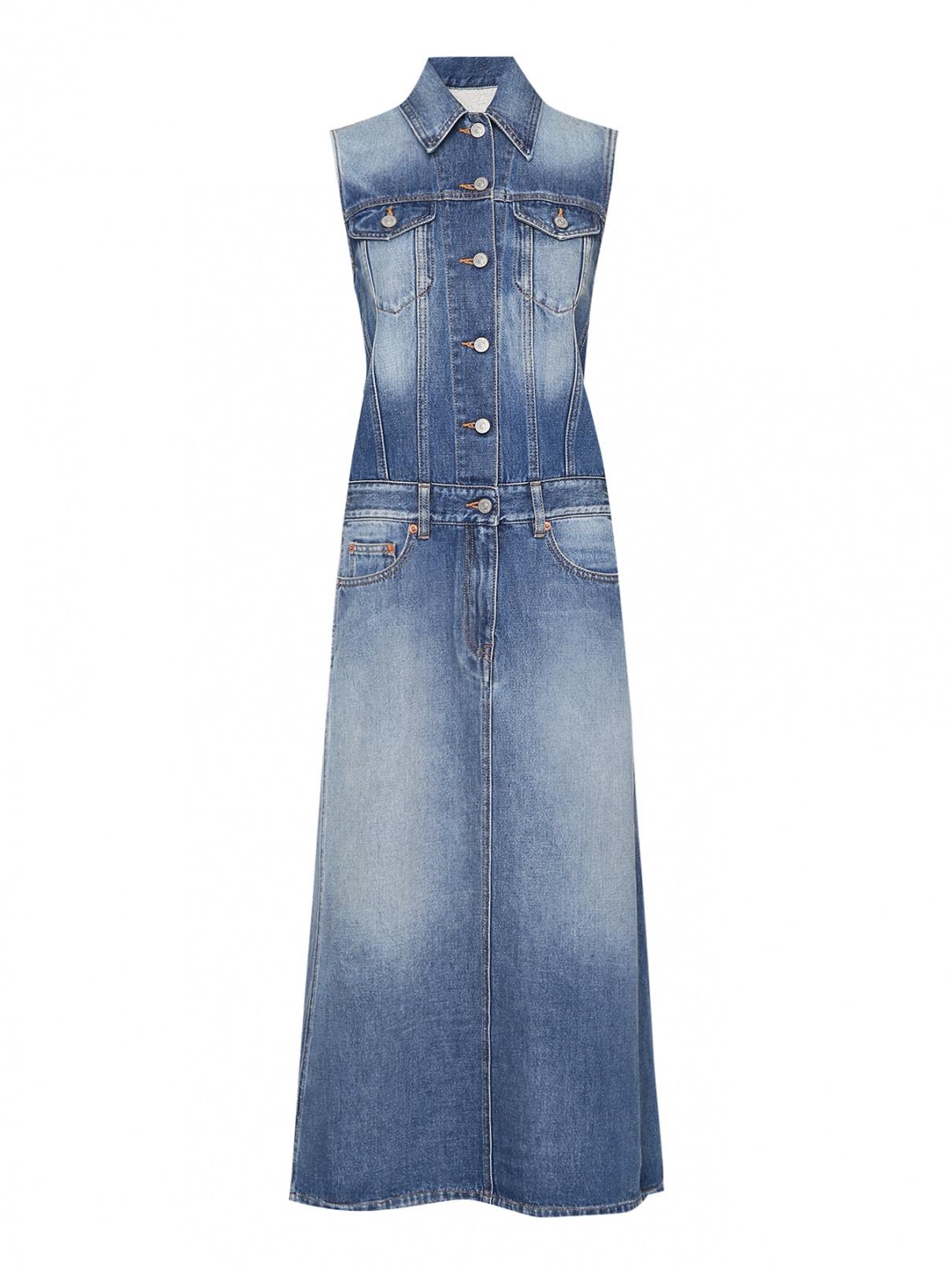Джинсовое платье с карманами MM6  –  Общий вид