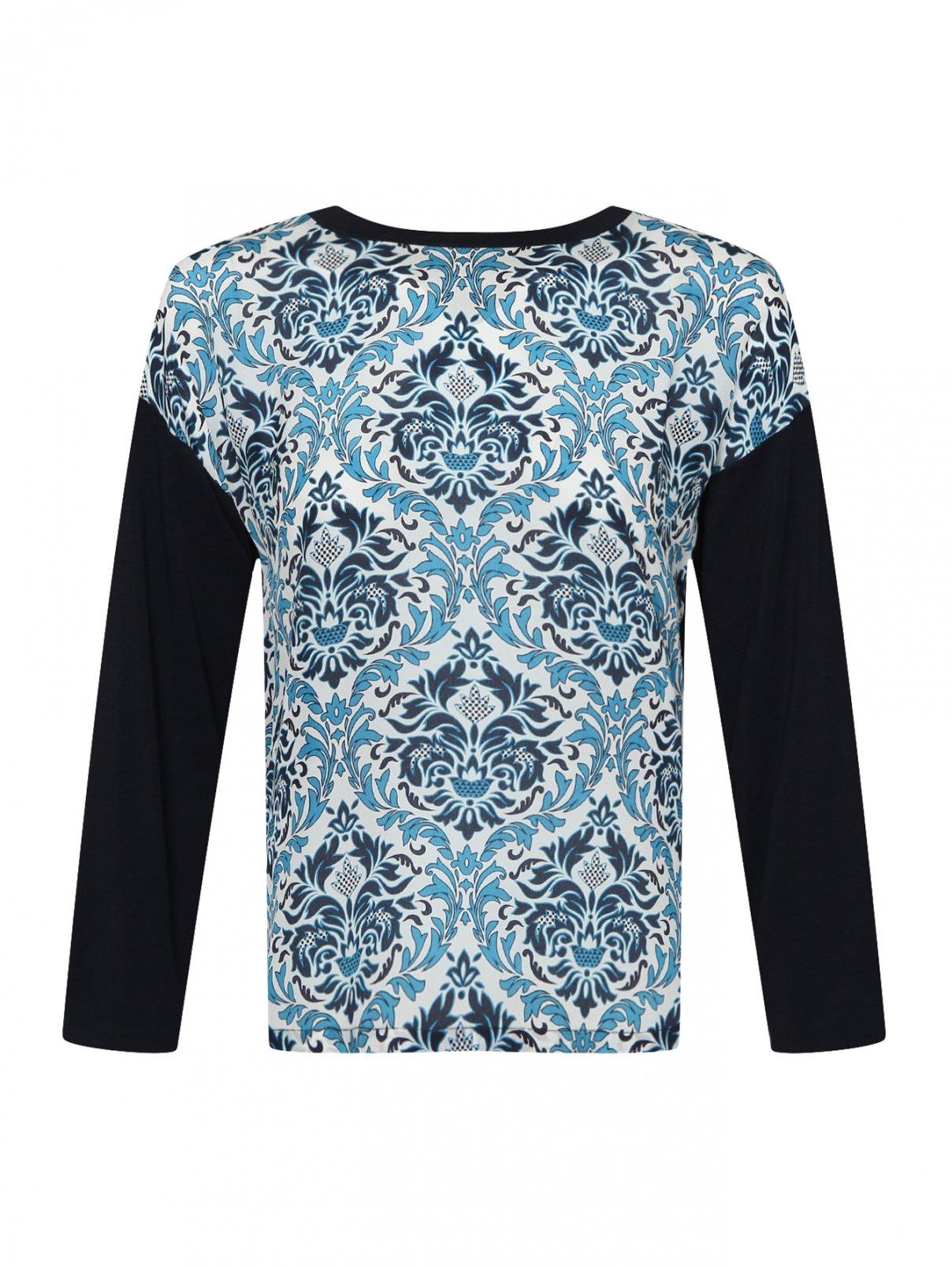 Блузка трикотажная с шелковой планкой Weekend Max Mara  –  Общий вид