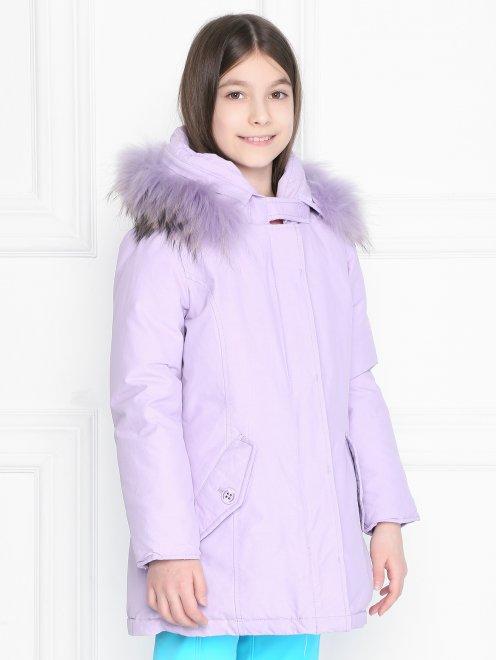 Куртка на молнии с капюшоном  - МодельВерхНиз